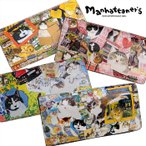 ショッピングマンハッタナーズ マンハッタナーズ manhattaner's ライブリーパース 長財布 かぶせ レディース 本革 猫 075-1655 財布 ブランド 可愛い 猫柄