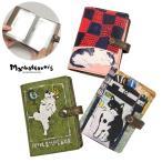 1年保証 マンハッタナーズ カードケース 手帳型 カードホルダー manhattaner's ホルディパース レディース 本革 革 猫 名刺入れ 075-1751