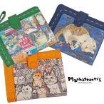 マンハッタナーズ 二つ折財布 ピッグパース レディース 本革 猫 manhattaner's 075-7302
