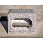 (税込、送料込価格)お墓 香炉 角香炉 白御影石(G603) ステンレス線香皿付き