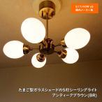 シーリングライト 天井照明 5灯 スポットライト ブラウン 乳白ガラス LED対応 北欧  ミッドセンチュリー 288BR