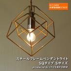 天井照明 1灯ペンダントライト INTERFORM Bleis(S) SQ インターフォルム ブレイスS 立方体 フレームシェード LED対応 LT-1087SQ LT-1088SQ