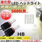 ショッピングLED LEDヘッドライト/フォグランプ H8 ファンレスCREE製チップ搭載 アルミボディ 放熱性抜群 12V車対応 5500K/6000K/7000Kケルビン選択