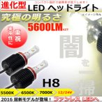 ショッピングLED LEDヘッドライト H8 フォグランプ ファンレス設計 CREE製XM-L2搭載 アルミボディ 圧倒的な輝き 24V車対応 5500K/6000/7000K色温度選択