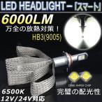 ショッピングLED 次世代 LEDヘッドライトHB3(9005)  ファンレスリボン CREE-XHP50 6000LM 抜群の明るさ 12V/24V対応 18ヶ月保証
