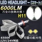 セレナ C26 LEDヘッドライト H11 ロー ヒートリボン CREE-XHP50 6000LM 超高輝度 キャンセラー内蔵 1年保証