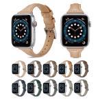アップルウォッチ バンド Apple Watch バンド ベルト 交換 レザー 革 スリム 細身 女性 男性 高級感 おしゃれ