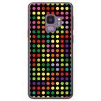 Galaxy S9 SC-02K・SCV38 ドット柄 水玉 デザイン テトリス ドット ブラックマルチ