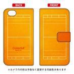 AQUOS R SH-03J・SHV39・604SH 手帳型ケース 水球コート オレンジ 【Cf ltd】