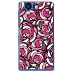sh01d ケース AQUOS PHONE SH-01D バラ 薔薇 花柄 ローズポップ ピンク