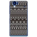 sh01d ケース カバー AQUOS PHONE SH-01D バティック柄 バティック染め スマホケース グレー