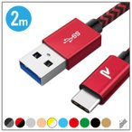 Type-C ケーブル 2m 3A 急速充電 USB 3.0 RAMPOW