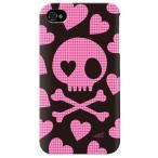 ショッピング4s iphone 4s ケース iphone4s カバー アイフォン4s 千鳥格子 千鳥柄 スカル黒とピンク