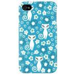 ショッピングiphone4s iphone 4s ケース iphone4s カバー アイフォン4s ネコ 猫 ねこ ぬこ おすまし猫 ブルー