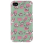 ショッピングiphone4s iphone 4s ケース iphone4s カバー アイフォン4s ネコ 猫 ねこ ぬこ くつろぎネコ グリーン