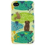 ショッピング4s iphone 4s ケース iphone4s カバー アイフォン4s ネコ 猫 ねこ ぬこ ちゅうもくネコ グリーン