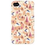 ショッピングiphone4s iphone 4s ケース iphone4s カバー アイフォン4s 白クマ ベア 熊 くまくん オレンジ