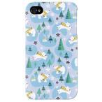 ショッピングiphone4s iphone 4s ケース iphone4s カバー アイフォン4s 白クマ ベア 熊 くまくん ブルー