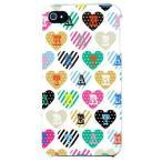 ショッピングiphone4s iphone 4s ケース iphone4s カバー アイフォン4s ハート柄 ハートデザイン カラフルハート ホワイト
