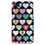 ショッピングiphone4s iphone 4s ケース iphone4s カバー アイフォン4s ハート柄 ハートデザイン カラフルハート ブラック