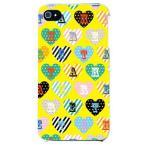 ショッピングiphone4s iphone 4s ケース iphone4s カバー アイフォン4s ハート柄 ハートデザイン カラフルハート イエロー