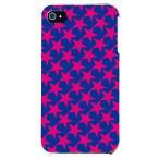 ショッピングiphone4s iphone4s カバー iPhone 4S ケース カバー ほし 星柄 星カバー 星デザイン スター TYPE2 ブルー ピンク