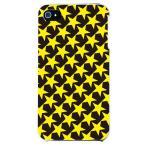 ショッピングiphone4s iphone4s カバー iPhone 4S ケース カバー ほし 星柄 星カバー 星デザイン スター TYPE2 ブラック イエロー