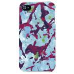 iphone 4s ケース iphone4s カバー アイフォン4s アブストラクト Camo ブルー ピンク