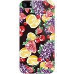 iPhone SE ケース カバー iPhone 5s フルーツ 果物 さくらんぼ いちご ぶどう オレンジ fruit black