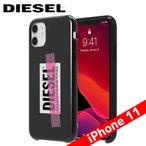Diesel ディーゼル Printed Co-Mold Case [ Tape ] for iPhone 11 Black/Pink Tape ブラック テープ