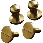 【送料無料】クラフト社 レザークラフト用金具 真鍮 ギボシ ネジ式 Φ5mm 2個入×10セット  1497