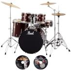 Pearl / ドラムセット RS525SCW/C 91-レッドワイン ご購入特典DVD2枚付き(送料無料)