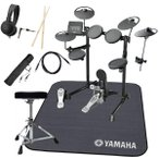 YAMAHA 電子ドラム DTX430KUPGS 3シンバル 純正マット付きオリジナルスターターパック一括セット(YRK)