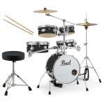 Pearl 小型 ドラムセット RT-645N/C 31-ジェットブラック リズムトラベラー ドラムイスとスティック付き(送料無料)(WEBSHOP)