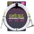 Ernie Ball / 6049 10feet S/L Instrument Cable - White 楽器用ケーブル アーニーボール (お取り寄せ)(WEBSHOP)