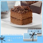 ホワイトデーB-41 プチショコラボア 2個入 お取り寄せ プチギフト お菓子 スイーツ チョコレート ケーキ チョコ チョコスイーツ 個包装 お返し 義理 25573