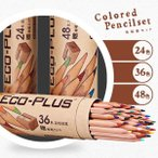 色鉛筆 セット 鉛筆削り付き 24色 36色 48色 木製 鉛筆 カラーペンシル 自然由来 お絵かき 図工 ET-IROPITU
