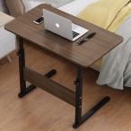 マルチサイドテーブル 木目ブラウン 収納テーブル キャスター付き サイドテーブル 高さ調節可能 介護 SIDETEBS-BR