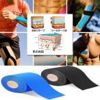 テーピングテープ キネシオ テープ 筋肉・関節をサポート 伸縮性強い 汗に強い パフォーマンスを高める 5cm x 5m 2個セット 2-TEPINNGUT