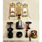 浄土真宗用小型仏壇用仏具セット
