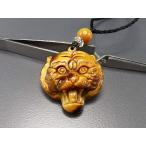 天然石色合い極上4Aタイガーアイ虎精工彫りペンダントトップ ネックレス