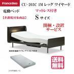 開梱設置無料 フランスベッド クォーレックス CU-203C レッグ キャビネット 1M ワイヤード マイクロRX-Vマット付 電動ベッド 2点セット 非課税 シングル