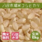 米 玄米 10kg 八日市場米 コシヒカリ 29年産 綺麗仕上 本州四国 送料無料 精米無料 紙袋