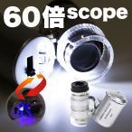 ■送料120円■60倍■LED&赤外線■LED小型顕微鏡■宝石鑑定用ルーペ■マイクロスコープ