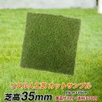 カットサンプル 天然芝そっくりのリアル人工芝 芝高35mm 25cm角 おためし