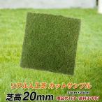 カットサンプル 天然芝そっくりのリアル人工芝 芝高20mm 25cm角 おためし