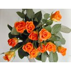 ショッピングアニバーサリー バラ 花束 12本 オレンジ色のバラ(本体価格4,200円)