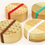 わっぱ弁当 丸 (格子) 一段 弁当箱 曲げわっぱ 杉 天然木 木製 モダン 人気 正和