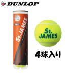《500円割引クーポン対象》DUNLOP セントジェームス 4球入りボトル STJAMESE4DOZ ダンロップ 硬式 テニスボール