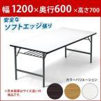 会議用テーブル 折りたたみテーブル 会議テーブル 幅1200 奥行600 (品番:T-1260SE)